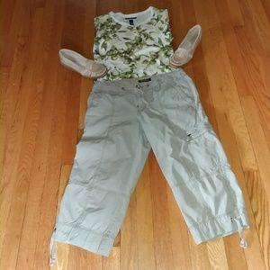 Eddie Bauer Pants - Eddie Bauer cargo pants all cotton size 8